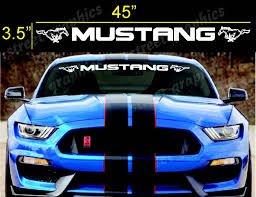 For Ford Mustang Bold Text Gt Windshield Logo Text Banner Vinyl Decal Sticker 3 5 X45 Car Stickers Aliexpress