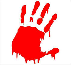 Bloody Hand Print Vinyl Decal Sticker Zombie Horror