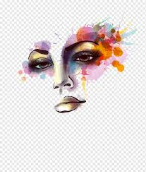 Mask With Paint Splat Watercolor Painting Wall Decal Ink Woman S Face Business Woman Face People Png Pngwing