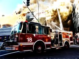 free firetruck hd wallpaper