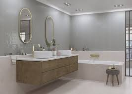 Surface Art Inc On Twitter Create A Seamless Look In Your Bathroom By Extending Your Back Splash Across Multiple Walls Installed Here Is Fence Grigio A Picket Shaped Tile That Comes In Three