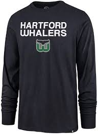 Amazon Com Hartford Whalers Men S Super Rivals Long Sleeve Shirt Navy Clothing