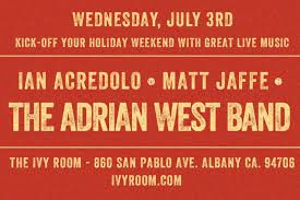 "The Adrian West Band Album Release Show: ""The Human Touch"" in"