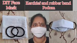 DIY Face Mask with Handkerchief and ...