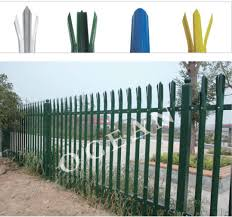 Palisade Fence Is Finished After Supperession Of Hot Dipped Galvanized Steel Plate Colored Steel Plate