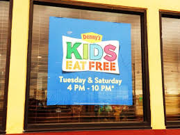 kids eat free picture of denny s