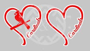 I Heart Cardinals Window Decal St Louis Baseball Go Cards Window Decals Rtic Cup Designs Cup Design