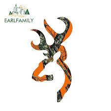 Earlfamily 13cm X 7cm Browning Style Buck Realtree Orange Camo Camouflage Hunting Car Sticker Orange Vinyl Decal Car Stickers Aliexpress