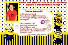 contoh undangan tidak resmi ulang tahun dalam bahasa inggris dan