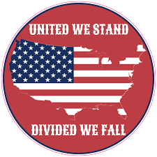 United We Stand Divided We Fall Circle Decal U S Custom Stickers
