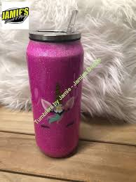 Unicorn Glitter Tumbler Bling Tumbler Made To Order Personalized D Jamies Decals