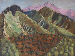 Green Canigou Painting by Vera Smith