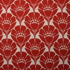"""P KAUFMANN MARION MURRAY FLORAL RED OUTDOOR INDOOR MULTIUSE FABRIC BTY 54""""W  