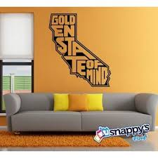 California State Golden State Of Mind Wall Decal Snappy Photo Gifts