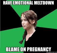 have emotional meltdown blame on pregnancy - Advice Katniss | Meme ...