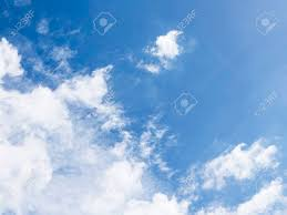 blue sky clouds in left below corner for business background