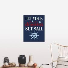 Shop Let Your Dreams Set Sail Boy Poster Print Overstock 21006787