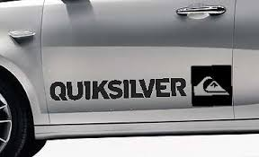 For 2x Quicksilver Surf Logo Vinyl Car Van Graphic Decal Stickers Any Colour Vw 1 Car Styling Car Stickers Aliexpress