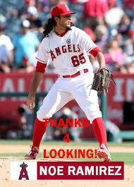 NOE RAMIREZ 2017 LOS ANGELES ANGELS BASEBALL CARD