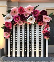 giant paper flower wall display garden