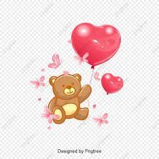 فراشة ناقلات دبدوب بالون ناقلات تيدي بير فراشة البالونات Png