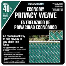 Yardgard 4 Ft H X 250 Ft W Green Economy Vinyl Fence Weave 330250wgr The Home Depot