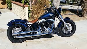 2013 Harley Softail Slim FLS Big Blue Pearl