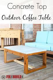 diy concrete top outdoor coffee table