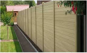 Composite Fencing At Francise Sheet Sales Ltd At Portsmouth Hampshire