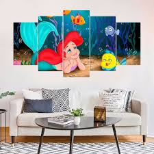 The Little Mermaid Kids Room Decor Ariel Framed Wall Art Etsy
