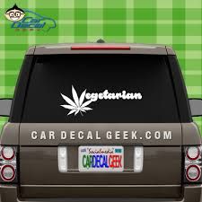 Marijuana Vegetarian Vinyl Car Truck Decal Sticker Pot Decals