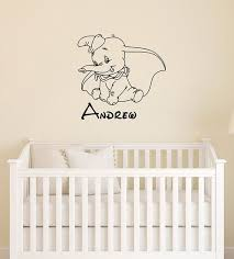 Personalized Dumbo Wall Decal Disney Custom Name Vinyl Sticker Etsy