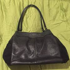 coach bags black pebbled leather