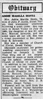 """Ada Marilla """"Addie"""" Edwards Hontz (1866-1942) - Find A Grave Memorial"""