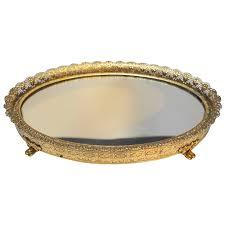 small oval gilt filigree ormolu dresser