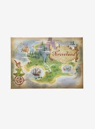 Disney Peter Pan Never Land Mini Canvas Wall Art