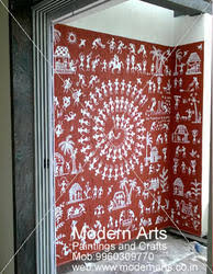 warli wall painting वर ल