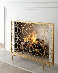 dessau home circles fireplace screen