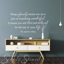 Family Love Be Loved For The Rest Of Your Life Wall Quote Decal Stencil