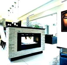 2 sided lg double display tv fireplace