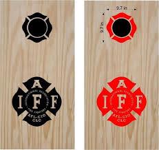 Cornhole Boards Decals Iaff Fire Firemen Fire Fighter Sticker Game Cus