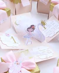 Swan Lake Ballerina Invitations Exploding Box Invitacion