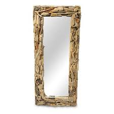 extra large driftwood mirror