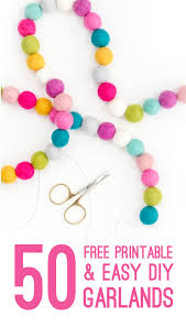 free printable garlands and diy banners