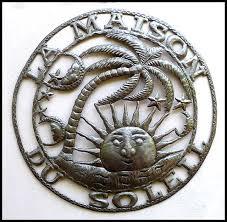 sun metal art haitian metal oil drum