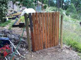 Garden Gate We Made Today 51 Inches Wide 60 Inches Tall Used 2x4 And 1x4 Gate Hinges From Home Depot And Misc Sc Gate Hinges Fence Gate Backyard Fences