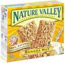 banana nut crunchy granola bars