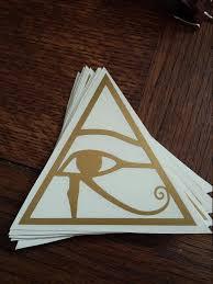 Eye Of Horus Egyptian Sticker Symbolism Decal Gold Pyramid Handmade Human Made Bronze Window Wall Car Tr Egyptian Eye Tattoos Eye Tattoo Egyptian Tattoo Sleeve