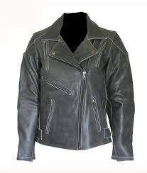 distressed black motorcycle leather jacket