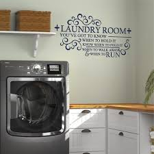 Know When To Fold It Laundry Wall Decal A Great Impression